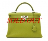 Túi Hermes kelly 32 anis green