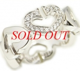 Nhẫn Cartier C heart diamond ring k18WG-Nhan-Cartier-C-heart-diamond-ring-k18WG